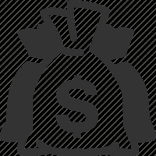 finance, investment, money, money bag icon