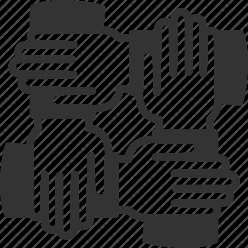 cooperation, hands, team, teamwork icon