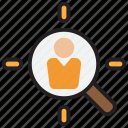 aim, bullseye, goal, head hunter, human, resource, target icon