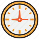 clock, hour, minute, second, time, watch icon