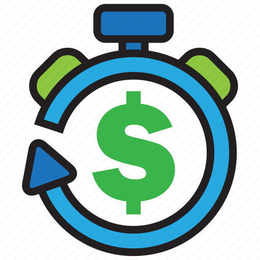 alarm, cash, clock, money, profit, time, timer icon