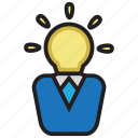 brain, creative, idea, smart icon