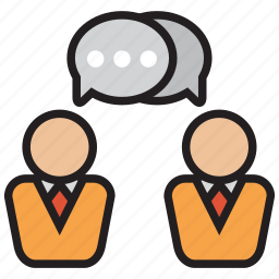 bubble, chat, discuss, message, talk icon