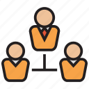 connection, hierarchy, network, structure, team icon