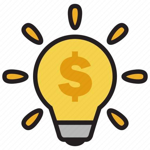 bulb, creative, idea, money, profit, smart, startup icon