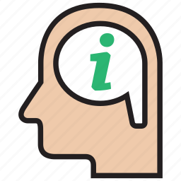 ask, data, document, help, idea, info, information icon