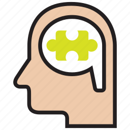 idea, logical, puzzle, think, thinking, thought, thoughts icon