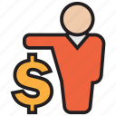 cash, currency, dollar, finance, invest, money icon