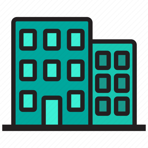 building, business, construction, office, work icon