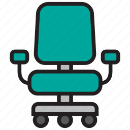 chair, desk, furniture, office, seat, table icon