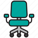 business, chair, desk, furniture, office, seat, table icon