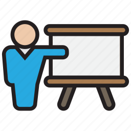class, meeting, presentation, study, teacher icon