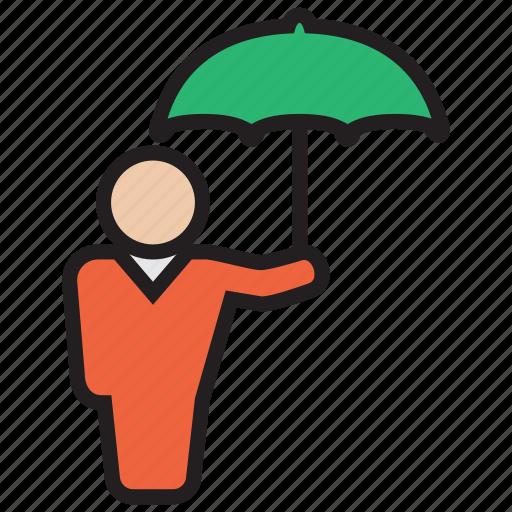 protect, protector, rain, umbrella, weather icon