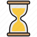 clock, sand, schedule, time, timer, watch icon