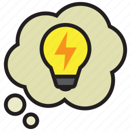 bulb, idea, light, thinking, thought, thoughts icon