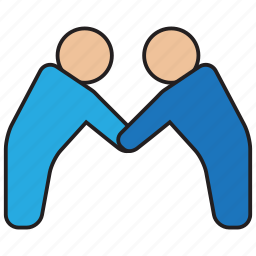 collaborate, cooperate, hand, shake, team icon