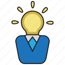 creative, idea, light, smart icon