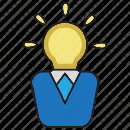 creative, idea, light, smart icon