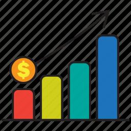 analytics, chart, graph, invest, money, profit, statistics icon