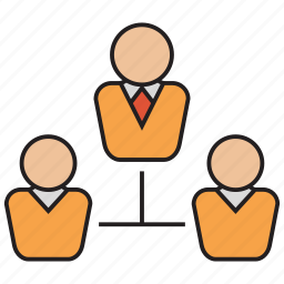business, hierarchy, network, structure, team icon