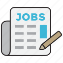 employment, job, jobs, recruitment, vacancy icon