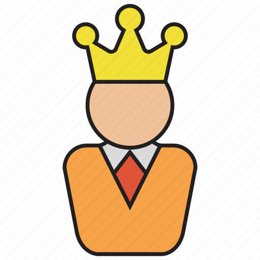 avatar, business, ceo, crown, king, manager, user icon