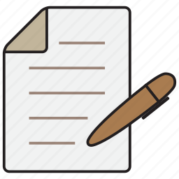 document, file, note, paper, pen icon