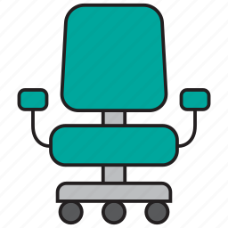 chair, desk, furniture, office, seat, sit icon