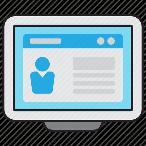 cv, document, job, profile, resume icon
