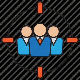 aim, customer, goal, service, target, user icon