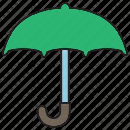 forecast, insurance, protection, rain, umbrella, weather icon