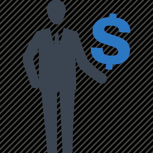 businessman, finance, investments, money, profit icon