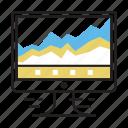 analytics, business, chart, graph, marketing icon
