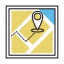 business, find, gps, marketing, us icon