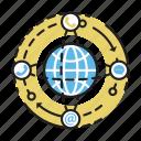 business, communication, global, marketing icon