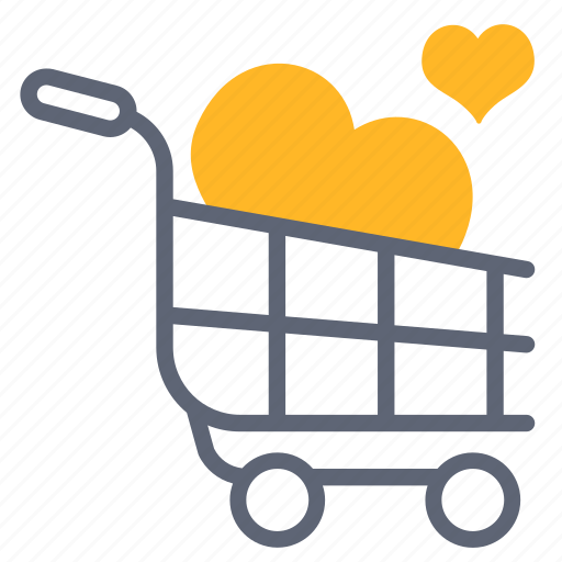 business, cart, love, market, marketing, shop, shopping icon