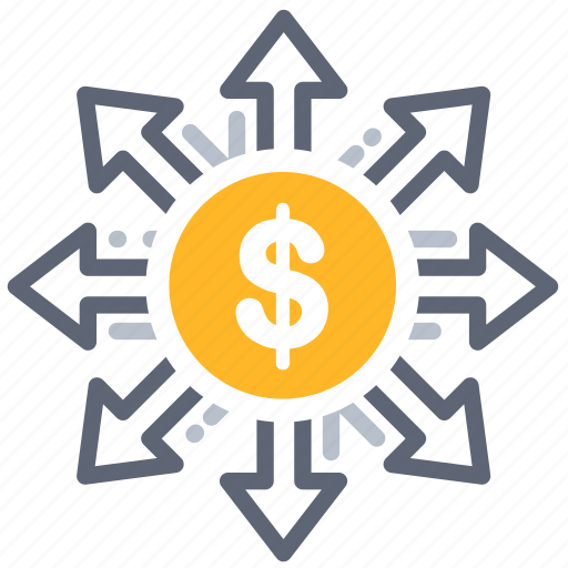 fees, finance, investment, marketing, money, omni channel, share icon
