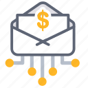 communication, digital, email, letter, mail, marketing, message icon