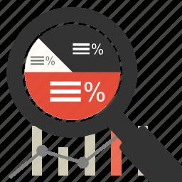 chart, financial, graph, management, marketing, optimization, search icon