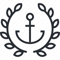 anchor, coding, line, text, thin icon