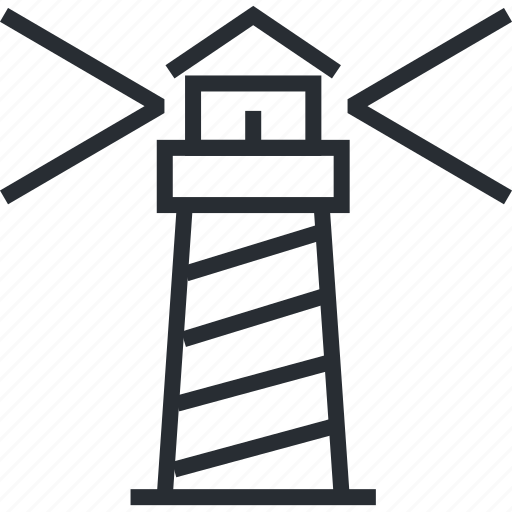 business, lighthouse, line, thin, vision icon