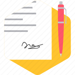 document, documents, page, paper, sign, signature, signing icon