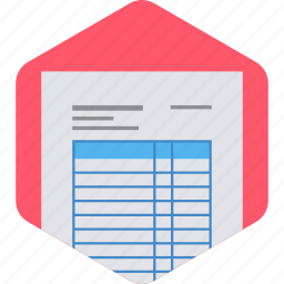 document, documents, invoice, paper, payment, receipt icon