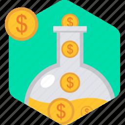 budget, flow, funds, invest, return, revenue icon