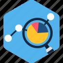 search, bar, graph, magnifier, chart, analytics