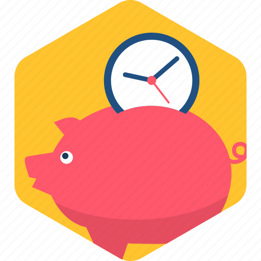 bank, banking, duration, piggy, savings, schedule, time icon