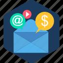 mail, media, envelope, email, letter, social