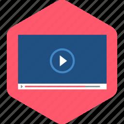 film, movie, play, player, video icon