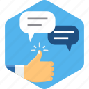 chat, comment, communication, conversation, feedback, like, message icon