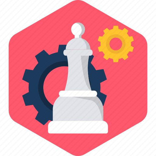 business, chess, game, management, play, process, strategy icon